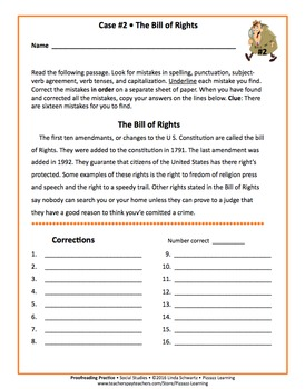 PROOFREADING PRACTICE • Social Studies-Based Passages