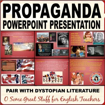 PROPAGANDA POWERPOINT-Great to Pair with Dystopian Literature- Compelling!