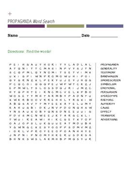 PROPAGANDA Word Search