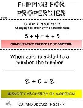 PROPERTIES  FLIP BOOK VIRGINIA SOL 3.20 4.16 5.19 6.19