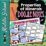 PROPERTIES OF MINERALS SCIENCE DOODLE NOTES, INTERACTIVE NOTEBOOK, ANCHOR CHART