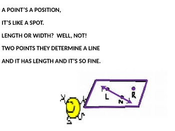 PROPERTIES OF POINTS, LINES, PLANES, SPACE, AND THEIR POSTULATES SONG