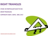 PROPERTIES OF RIGHT TRIANGLES SONG