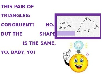 PROPERTIES OF SIMILAR TRIANGLES SONG