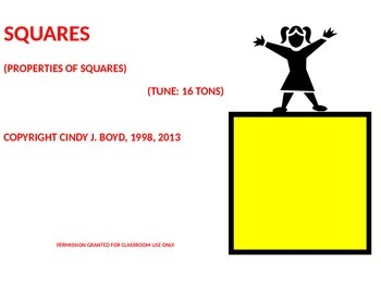 PROPERTIES OF SQUARES SONG