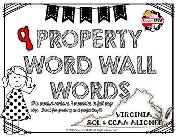 PROPERTIES WORD WALL WORDS