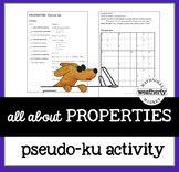PROPERTIES of REAL NUMBERS pseudo-ku