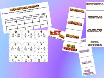 PROPORTIONS CARD SORT AND INB