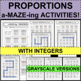 PROPORTIONS & NON-PROPORTIONS in TABLES a-MAZE-ing Puzzle