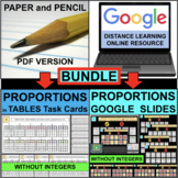 PROPORTIONS and NON-PROPORTIONS in TABLES BUNDLE (PDF & Go