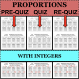 PROPORTIONS in TABLES Proportional Relationships QUIZZES 3 Forms