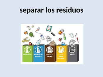PROTEGER EL MEDIO AMBIENTE. ENVIRONMENT SENTENCES USING NEAR FUTURE TENSE