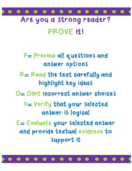 PROVE It!  Poster- A Strategy for Reading