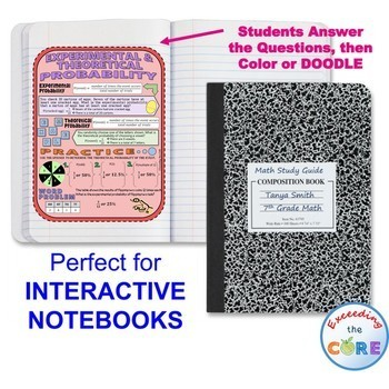 PROBABILITY Doodle Notes - Interactive Math Notebooks