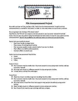 PSA Assignment/Rubric