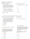 PSAT Math Practice Problems (Linear only)