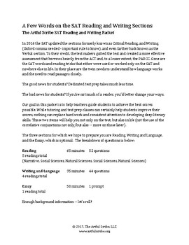 PSAT and SAT Prep for Critical Reading and Writing Sections (2005-Jan 2016 test)