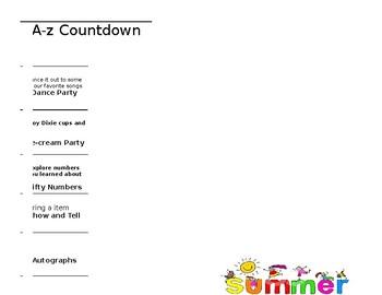 PSD Alphabet Countdown