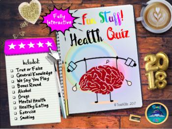 PSHE Mental Health : Health Quiz