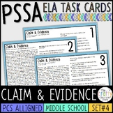 PSSA Claim and Evidence Task Cards