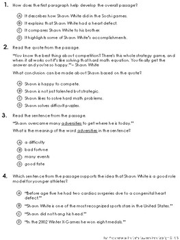 PSSA ELA Informational Text Practice Test - Set 2