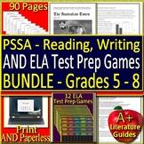 PSSA ELA Test Prep and Games HUGE Bundle - Practice Tests Grades 5 - 8 Google