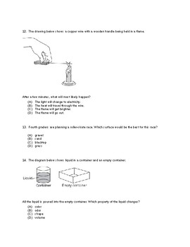 PSSA Fourth Grade Physical Science Question Review