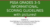 PSSA Grades 3-5 Informational Scoring Guidelines with pictures!