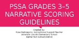 PSSA Grades 3-5 Narrative Scoring Guidelines with pictures!