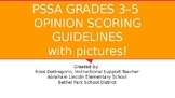 PSSA Grades 3-5 Opinion Scoring Guidelines with pictures!