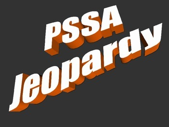 PSSA Jeopardy Game Powerpoint Review (Fourth Grade)
