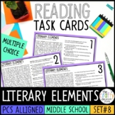 PSSA Literary Elements Task Cards - Plot, Character, Theme
