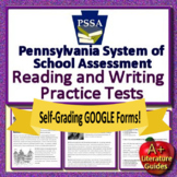 6th Grade PSSA Test Prep Reading and Writing Practice Tests ELA Google Ready!