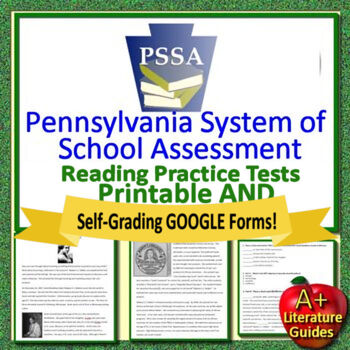 7th Grade PSSA Test Prep Reading and Writing Practice Tests for Language Arts
