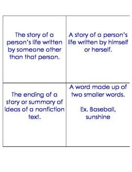 PSSA Prep Vocabulary Flashcards