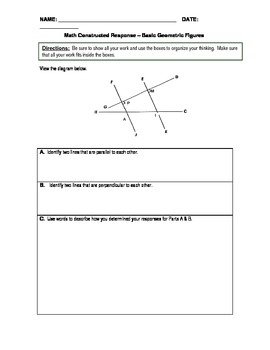 PSSA Question of the Day Packet - Basic Geometric Patterns (Lines & Angles)