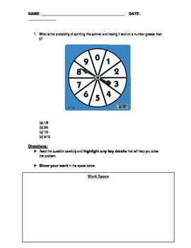 PSSA Question of the Day Packet - Experimental Probability
