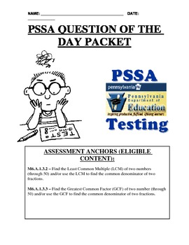 PSSA Question of the Day Packet - LCM & GCF