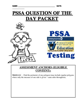 PSSA Question of the Day Packet - Perimeter of Squares & Rectangles
