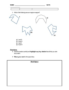 PSSA Question of the Day Packet - Polygons
