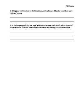 PSSA Review Packet --Aligned with Common Core Question Stems.