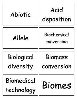 PSSA Science Vocabulary Flashcards, Middle School Science, PA