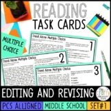PSSA Stand Alone Multiple Choice Task Cards - Revising and