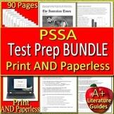 PSSA Test Prep Bundle Reading + Writing Practice Tests Gr. 6, 7 & 8 Google Ready