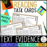PSSA Text Evidence Task Cards