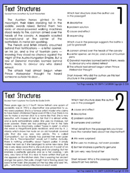 PSSA Text Structures Task Cards