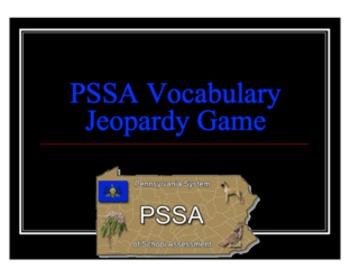 PSSA Vocabulary Jeopardy
