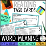 PSSA Word Meaning Task Cards