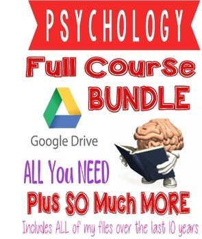 PSYCHOLOGY FULL COURSE BUNDLE Everything you need PLUS more