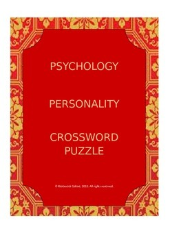 PSYCHOLOGY: Personality Crossword